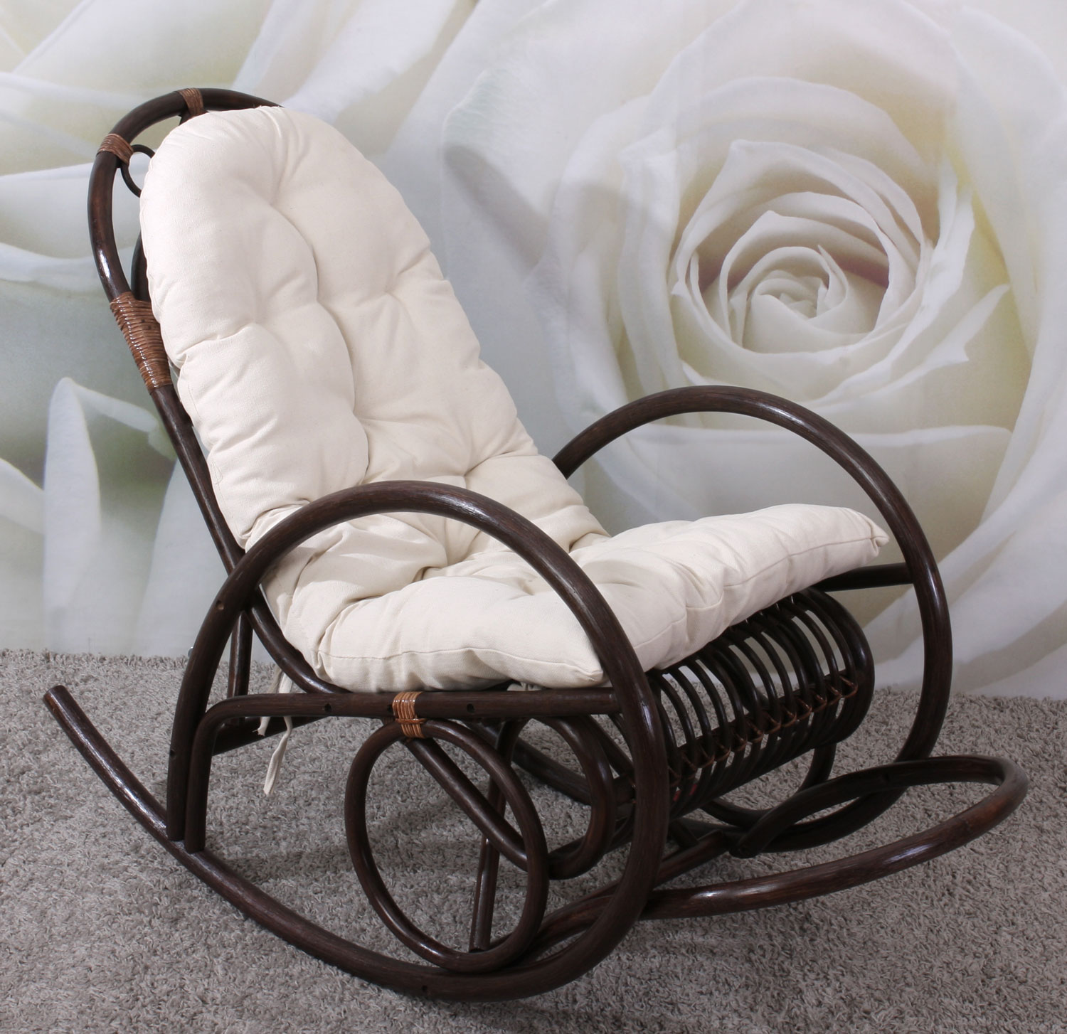 rocking chair daisy avec coussin microfibre rockgch daisy. Black Bedroom Furniture Sets. Home Design Ideas