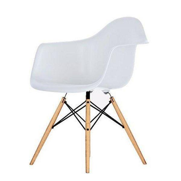 Lot de 4 chaises daw blanc style eames 60 39 s cha4 dawbl eam for Chaise coque eames