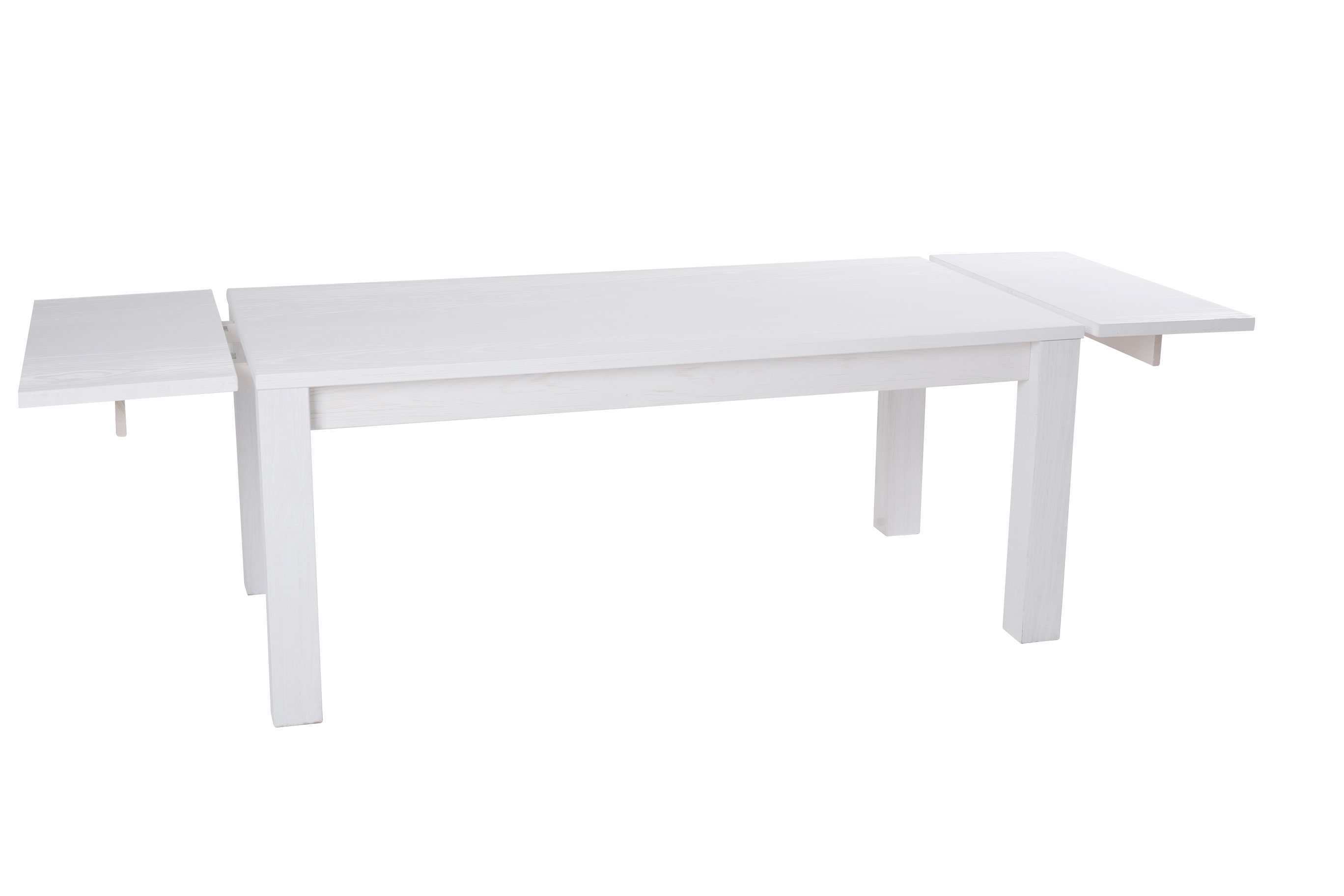 Table de s jour rectangulaire en pin massif laqu e blanc for Sejour rectangulaire