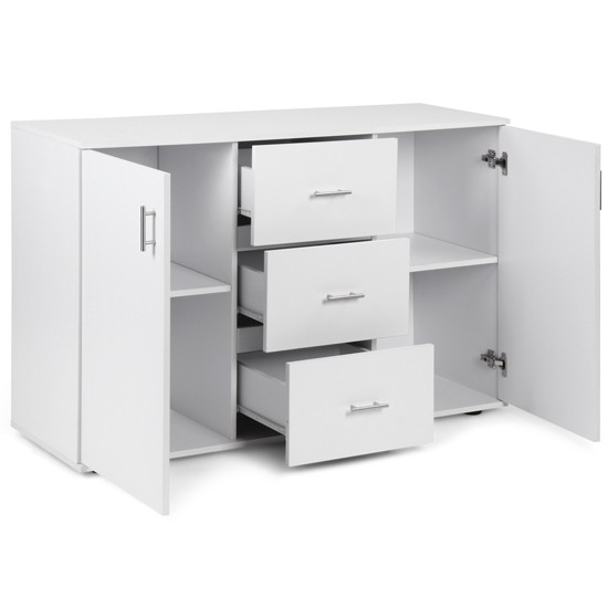 Buffet commode komjag polyvalente design tendance blanc buff2pkom white jg 1 - Commode buffet design ...