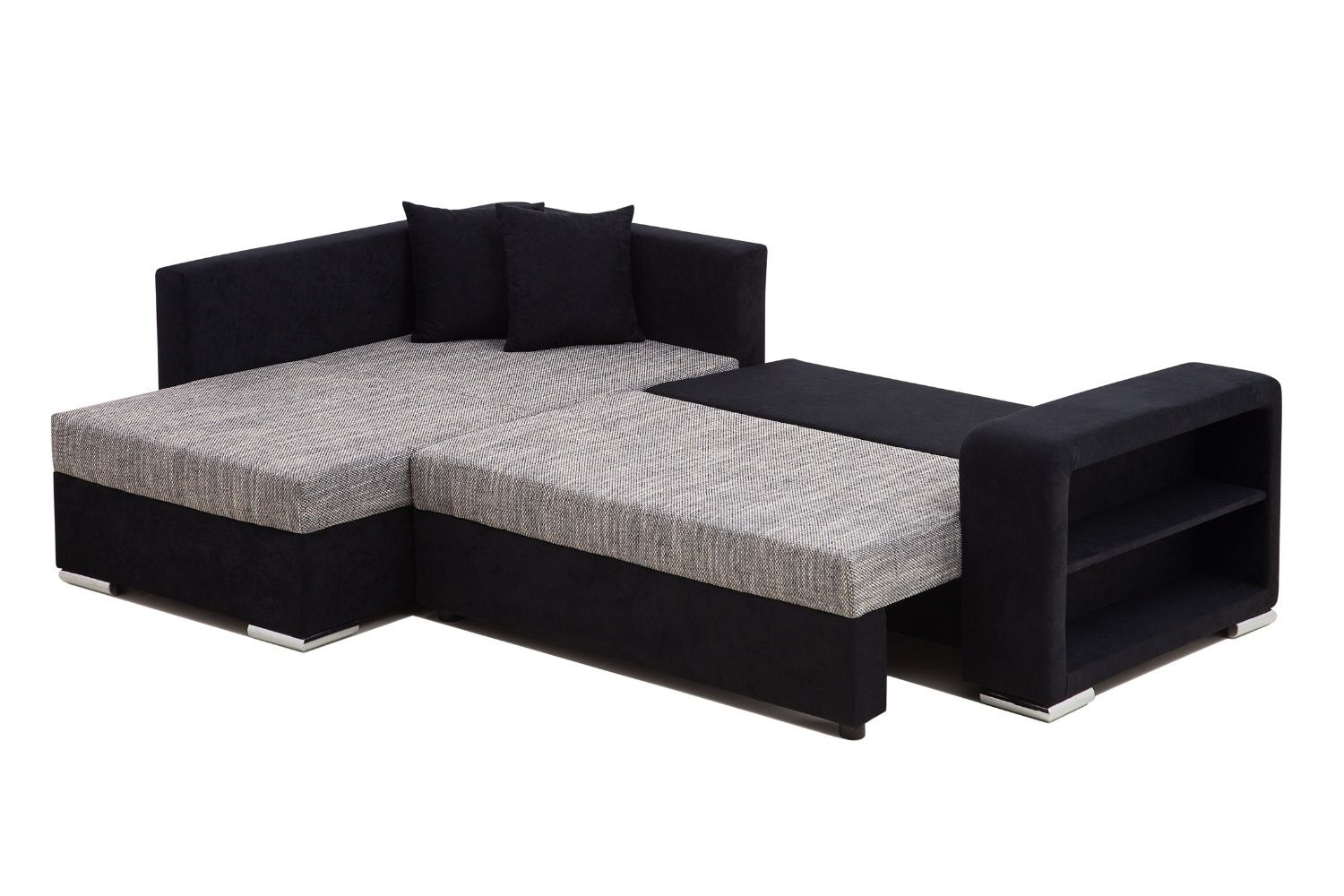 Canape lit tissu convertible hst cpelit hst osk st vente for Canapes lits
