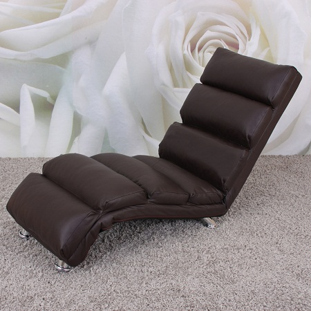 fauteuil chaise longue cuir lounge marron fautrel lgem hw. Black Bedroom Furniture Sets. Home Design Ideas