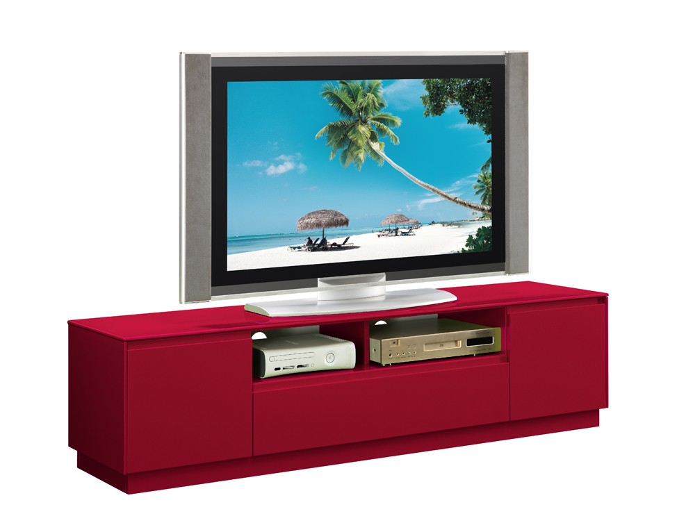 meuble tv meuble tv rouge et noir meuble tv rouge et. Black Bedroom Furniture Sets. Home Design Ideas