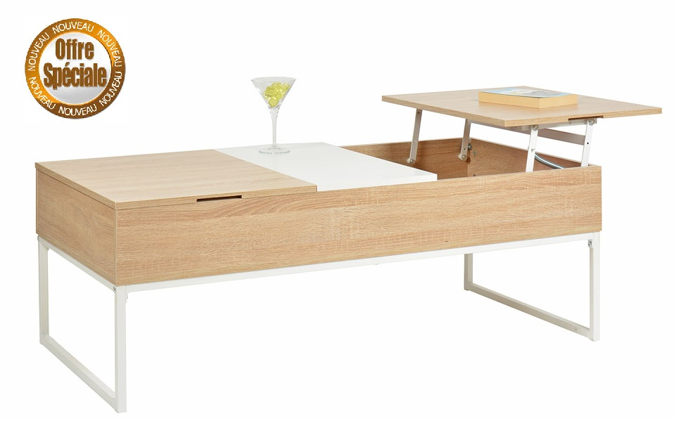 Table Basse Avec Compartiment
