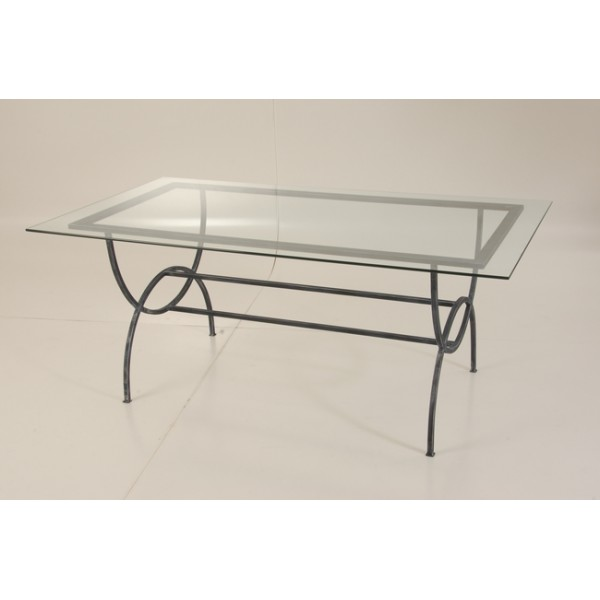 105 table basse en verre et fer forge table basse carr - Table basse de salon en verre et fer forge ...