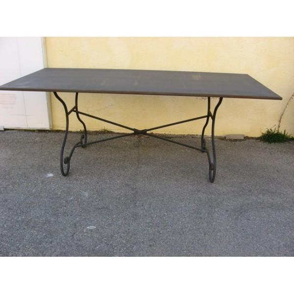 Table salle a manger fer forge et metal sb samff sb imd3 for Table salle a manger fer forge