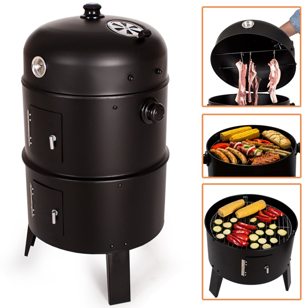 barbecue charbon smoke grill avec thermostat bbqc-smokethermo-ad