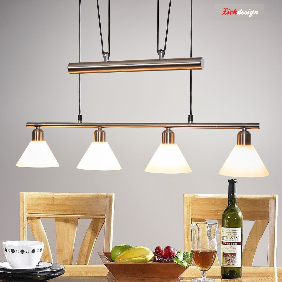 Ensemble luminaire design 4 lampes lich design esble 4lp for Luminaire design