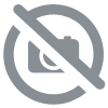 ENSEMBLE EN CERAMIQUE ET METAL COSY MARINA TABLE + 2 CHAISES PLIANTES